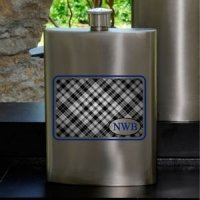 Plaid Guys Party Flask