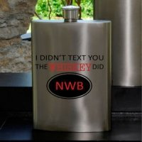 Texting Whiskey Guys Personalized Party Flask