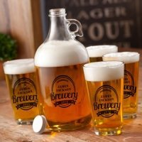 Personalized Brewery Growler Set