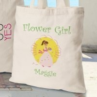 Personalized Flower Girl Tote Bags (3 Colors)