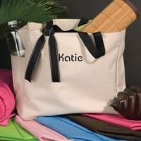 Addie Personalized Tote (6 Colors)