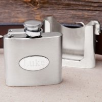 Personalized Belt Buckle Clip Flask