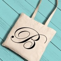 Personalized Initial Tote Bag (6 Colors)