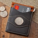 Personalized Two Tone Leather Wallet