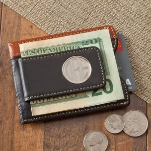Personalized Two Tone Magnetic Money Clip Wallet image