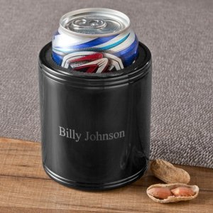 Personalized Black Metal Can Koozie image