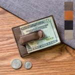 Personalized Leatherette Money Clip & Wallet