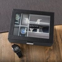 Monogrammed Men's Watch and Sunglasses Box