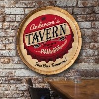 Personalized Barrel Top Sign (Many Designs)