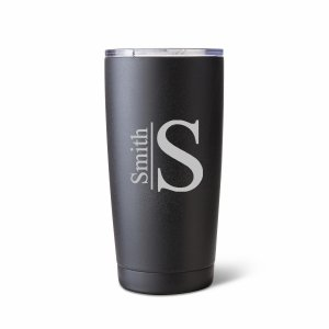 Personalized 20 oz. Black Matte Double Wall Tumbler image
