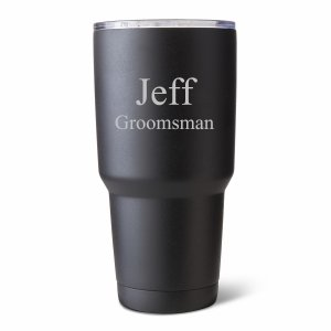 Personalized 30 oz. Black Matte Double Wall Tumbler image