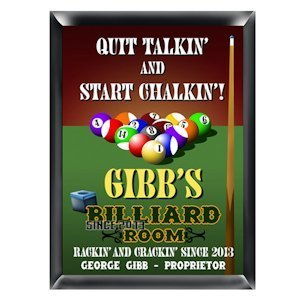 Personalized Billiards Pub Sign image