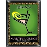 Personalized 'Cosmo-Chic' Martini Lounge Sign