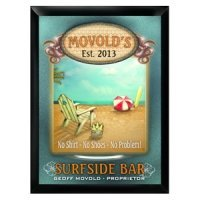 Personalized 'Surfside' Pub Sign