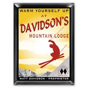 Personalized Ski Lodge Pub Sign image
