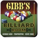 Personalized Billiards Coaster Set