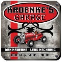 Personalized 'Garage' Coaster Set