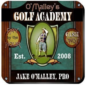 Personalized Golf Academy Coaster Set image