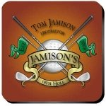 Personalized 19th Hole Golf Coaster Set