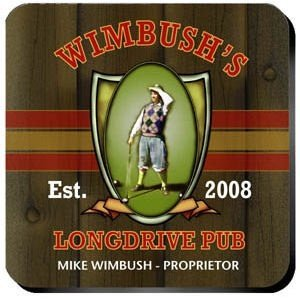Personalized Long Drive Coasters image