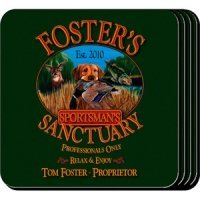 Personalized Sportsman's Coaster Set