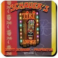 Personalized Tiki Lounge Coaster Set
