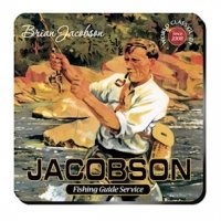 Personalized Fishing Guide Coaster Set