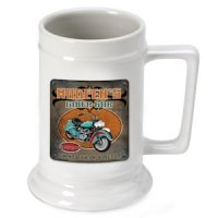 Personalized Biker Bar Beer Stein