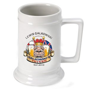 Personalized English Bulldog Beer Stein image