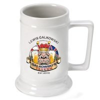 Personalized English Bulldog Beer Stein