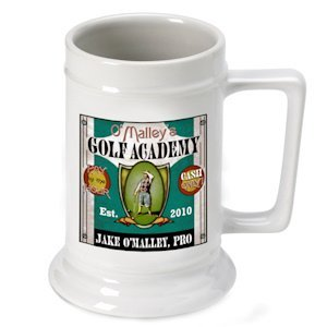 Personalized Golf Academy Beer Stein image