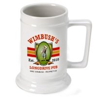Personalized Long Drive Beer Stein