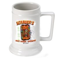 Personalized Tiki Lounge Beer Stein