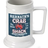Personalized Crab Shack Beer Stein