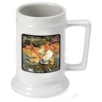 Personalized Fishing Guide Stein