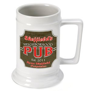 Personalized Neighborhood Pub Beer Stein image