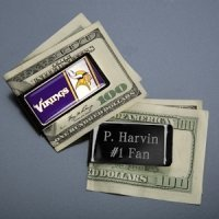 Customized NFL Emblem Money Clip