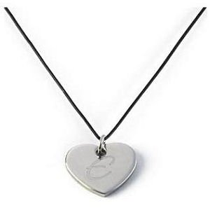 Monogrammed Leather Heart-Shaped Pendant Necklace image