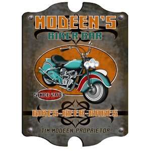 Personalized Vintage Biker Bar Sign image