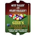 Personalized Vintage Billiards Sign