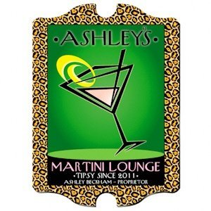 Personalized Vintage 'Cosmo-Chic' Martini Lounge Sign image