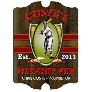 Personalized Vintage Dugout Pub Sign image