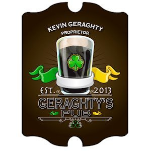 Personalized Vintage Irish Pub Sign image