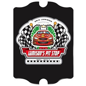 Personalized Vintage Racing 'Pit-Stop' Pub Sign image