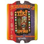 Personalized Vintage Tiki Lounge Sign
