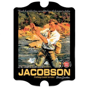 Personalized Vintage Fishing Guide Pub Sign image