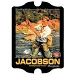 Personalized Vintage Fishing Guide Pub Sign