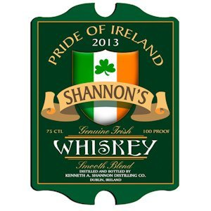 Vintage Personalized Irish Whiskey Pub Sign image