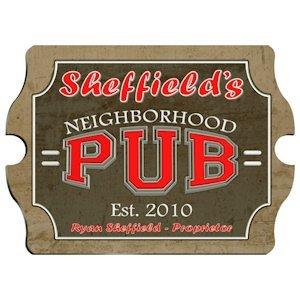 Vintage Personalized Neighborhood Pub Sign image