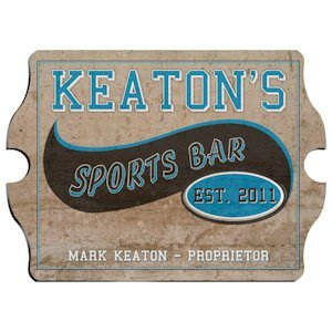 Vintage Personalized Sports Bar Pub Sign image